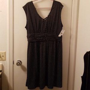 Tessuto black and white polka dot dress